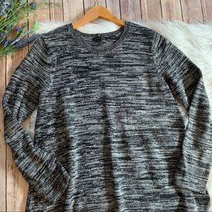 Jeanne Pierre | Gray Long Sleeve Knit Sweater